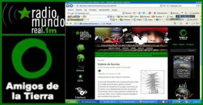 Denuncia Internacional de El Quimbo en Radio Mundo Real y Amigos de la Tierra Internacional