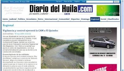 El Quimbo: de la licencia ambiental a la voluntad popular