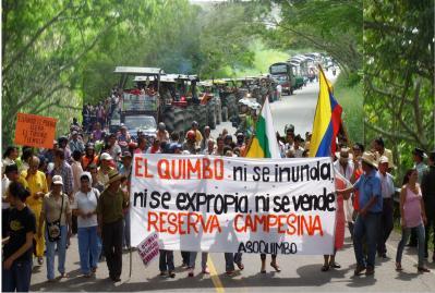 Resistencia contra El Quimo de Emgesa se tomó vía nacional Garzón-Rioloro