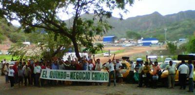 Campesinos decidieron obstaculizar todas  las vías  de acceso al El Quimbo para sellar obras