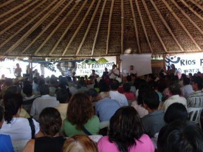 Masiva asamblea de Asoquimbo en la que se instaló  mesa de derechos