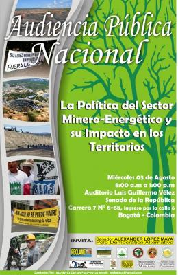 Lista Audiencia Pública Nacional sobre la política del Sector Minero-energétic